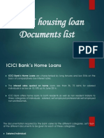 ICICI Housing Loan Document List