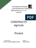 Proiect Constructii Agricole