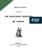 Osservazioni sopra le antiche monete di Atene / [Celestino Cavedoni]