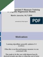 presentation on jansche, hlt2005