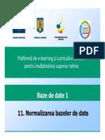 Normalizarea Bazelor de Date