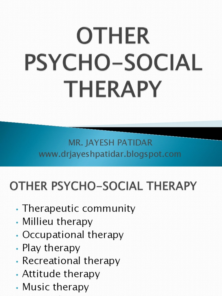 OTHER PSYCH0-SOCIAL THERAPY.pdf | Play Therapy | Psychotherapy