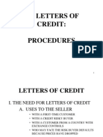 Letters of Credit Procedures