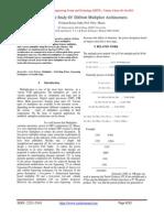 Comparitive Study Of Diffrent Multiplier Architectures