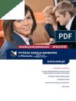 Informator 2014 - Studia Podyplomowe - Wyższa Szkoła Bankowa w Poznaniu