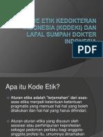 Kode Etik Kedokteran Indonesia Dan Sumpah Dokter