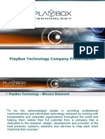 PlayBox Product Presentation 2009 11 05