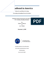 Columbia Institute for Tele-Information Broadband in America Report Prepared for FCC Issued 11-11-2009