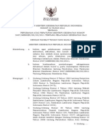 Pmk No. 42 Ttg Perubahan Permenkes No. 2407 Ttg Yankes Haji