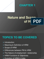Nature and Scope of Hrm III