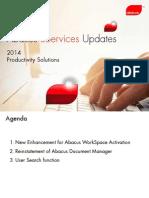 EServices - Announcements - 2014