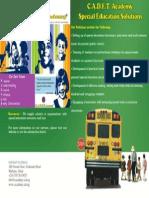 C.A.D.E.T. Academy. Schools. Flyer