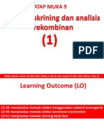TM 09 Selection, Screening, And Analysis of Recombinants 1 (2014)