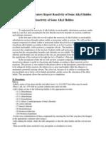 Chem 230L Laboratory Report Reactivity of Some Alkyl Halides