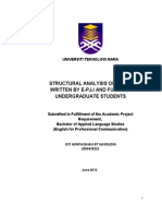 Structural Analysis of Text Written by E-pjj and Fulltime Undergraduate Students