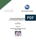 Process Performance Measure Key Performance Indicators - KPI