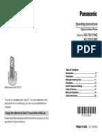 Panasonic User Guide