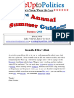 Wake Up to Politics SUMMER GUIDE - Summer 2014