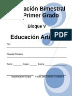 Plan - 1er Grado Bloque v Educación Artística