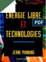 Manning Jeane - Energie Libre Et Technologies