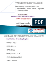 Sas Base and Advanced Certification In Hyderabad