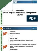 WM06 Regular Work Order Management Presentation