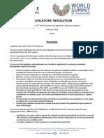 GLOBE Legislators Resolution