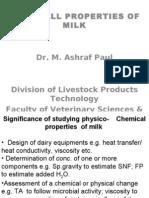 Physical Properties of Milk