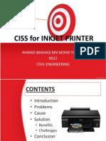 CISS for Inkjet Printer