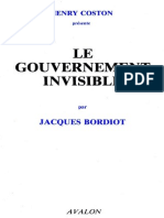 Bordiot Jacques - Le Gouvernement Invisible