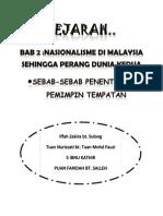 SEJARAH TINGKATAN 5 BAB 2 :NASIONALISME DI MALAYSIA SEHINGGA PERANG DUNIA KEDUA