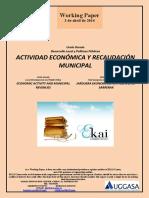 Urola Garaia Desarrollo Local y Políticas Públicas Actividad Económica y Recaudación Municipal