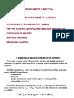 08. Carstologie - Prezentare 08 - Morfogeneza Carstica