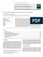 A Review on Biosynthesis of Nanoparticles by Marine Organisms