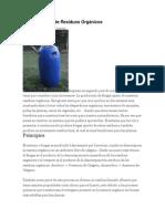 Biogas a Partir de Residuos Orgánicos