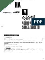 Yamaha Owners Manual 40 50 HP