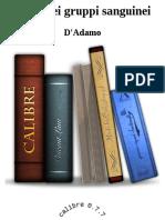 Dieta Dei Gruppi Sanguinei - D'Adamo