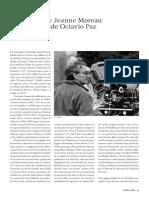 Louis Malle y Jeanne Moreau en La Mirada de Octavio Paz