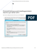 [Tutorial] Setting Up and Installing Persistent Chat for Lync Server 2013 _ Jack Stromberg