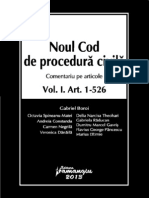 G. Boroi - NCPC Comentat Vol I