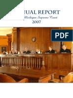 Annual Report of the Michigan Supreme Court 2007