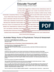 Strahlenfolter Stalking - TI - Australian Relays Horror of Psychotronic Torture & Harassment (Nov. 2, 2008) - Educate-yourself.org