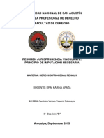 Procesal Penal_principio de Imputacion Necesaria_jurisprudencia_resumen