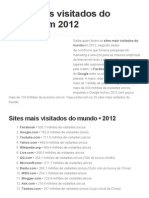 Sites Mais Visitados Do Mundo Em 2012