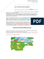 Guía Clasificación de Animales