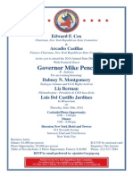 Annual Dinner With Gov. Mike Pence 2014