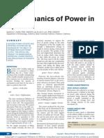Biomechanics of Power in Sport.4