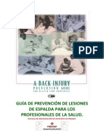 Guía de Prevención de Lesiones de Espalda Para Los Profesionales de La Salud