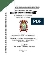 Manual de Evaluacion de Proyectos