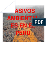 Pasivos Ambientales Mineros en El Perú.